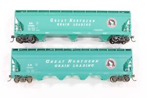 HO Athearn & Accurail Great Northern Glacier Green ACF Hoppers w/ diff #s