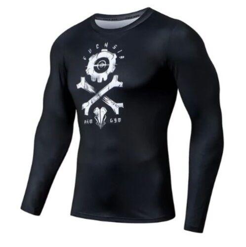 Muscle Camiseta Hombre Deportivo,Top con Estampado de Calavera Camiseta Transpirable de Entrenamiento de Alta Elasticidad y Secado r/ápido,Aptitud Camiseta Gym Los Hombres