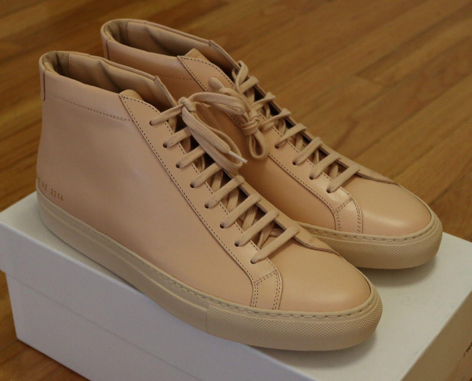 Common Projects Natural Achilles Mid Size 39 42 / 6 9 Brand New