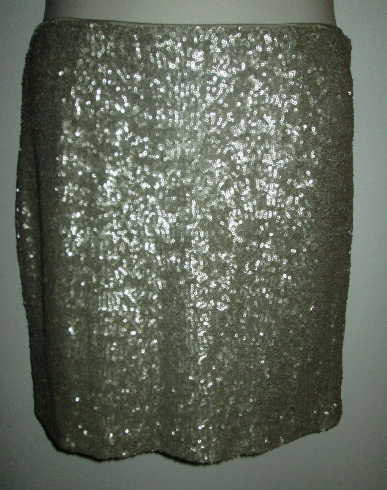 Cache SEQUIN SKIRT 6 gold NWT  118 Occasion NEW Above Knee SEQUINED