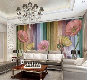3D color greenical Line Petal Paper Wall Print Wall Decal Wall Deco Indoor Murals