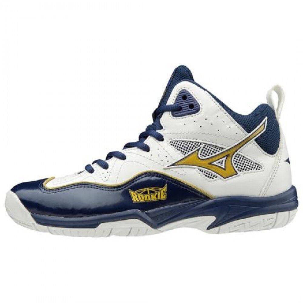 MIZUNO Junior Basketball shoes ROOKIE BB5 W1GC1970 white × gold × navy