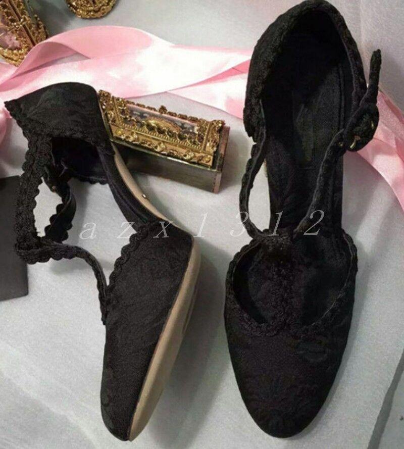 femmes femmes femmes Wedding Genuine Suede Rhinestones High Heel Chunky T-Strap Pumps chaussures Ch fb9e1e
