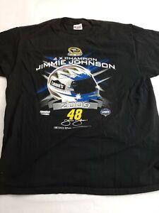 2009 / 2010 Nascar Chase Authentics XL Black JIMMIE JOHNSON #48 T Shirt 🚘🎁gift