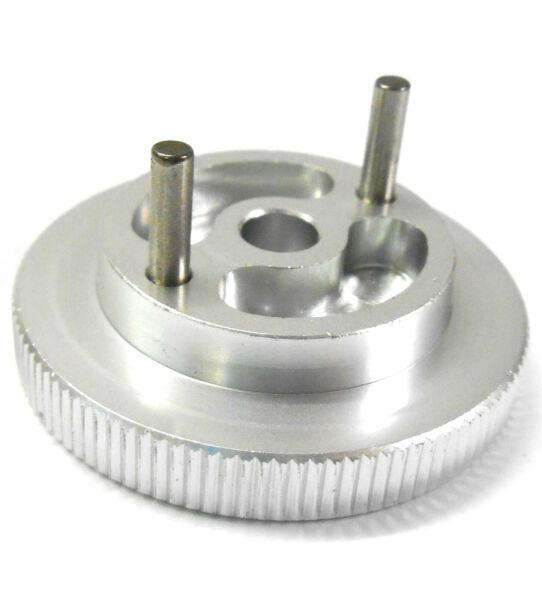 102006s Alliage Aluminium Anodisé Argent Moteur Nitro Flywheel 2 Broches 1/10 Cool En éTé Et Chaud En Hiver