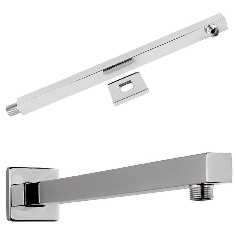 40cm Braccio doccia per acciaio inossidabile Soffione rubinetteria Supporto da