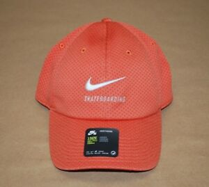 40723fb00 Details about Nike SB Men's Skateboarding Swoosh Mesh Heritage86 Cap -  Orange - Strapback
