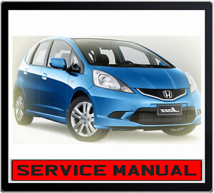 Honda Jazz 13l 15l 2002 2008 Service Repair Manual In Dvd Ebay