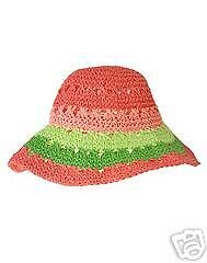 Gymboree New Coral Reef Sun Hat Size 2T-5T NWT