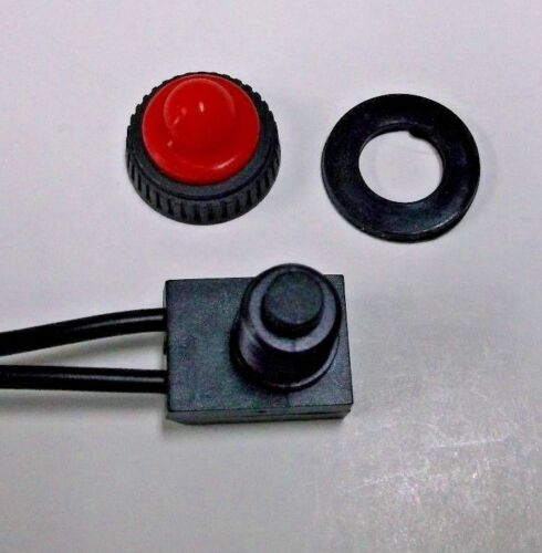 2 BBT Brand Waterproof Marine Grade Red Push Button On//Off Switches