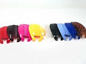 8 pcs Banana Comb Clip Thick Hair Riser Claw Interlocking Jaw Extra .