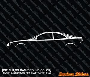 2x Jdm Car Silhouette Stickers For Toyota Celica Liftback 6th Gen