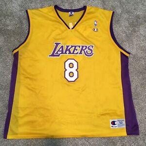Kobe Bryant Champion #8 Los Angeles Lakers NBA Jersey Yellow 52 ...