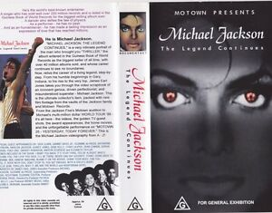 MICHAEL-JACKSON-THE-LEGEND-CONTINUES-VHS-PAL-VIDEO