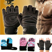 Women Weight Lifting Gym Gloves Workout Wrist Wrap Sports Exercise Fitness S