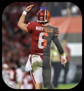 low priced b560a 543f7 Details about Baker Mayfield custom Magnet half Cleveland Browns half  Oklahoma Sooners NFL