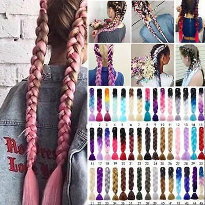 Details about  Bulk Premium Real Thick Kanekalon Jumbo Braiding Hair Extension Twisr Afro BRAID