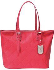 LONGCHAMP LM Cuir Large Tote Pink Rose Bag Leather Handbag Purse Logo NEW