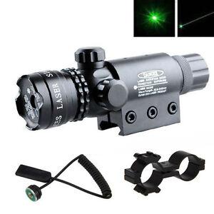 Tactical-Hunting-rifle-Green-Laser-Sight-Dot-Scope-Adjustable-w-Mount-light-Gun