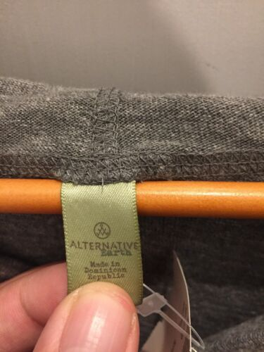 Alternative Apparel Pull Over Gray V-Neck Hoodie Size L