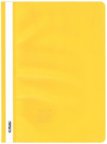 10 Stück GELB Herlitz 11387438 Schnellhefter A4 mit transparentem Vorderdeckel