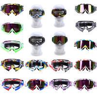 Pit Dirt Bike Motocross Goggles Motorbike Sport Ski Eyewear Glasses Anti Uv Wind