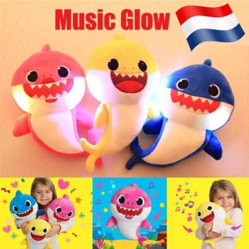 Peluche Bébé Requin LED Chantant Shark Chante Musique Jouet Music Baby Shark