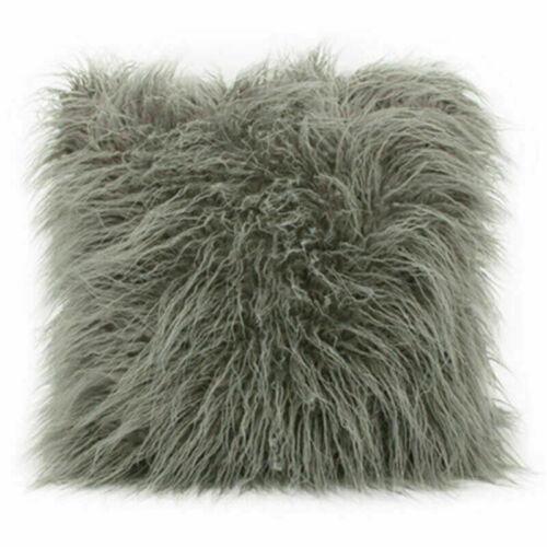 "17/"" Soft Plush Throw Pillow Case Fluffy Plush Sofa Cushion Cover Family Decor"