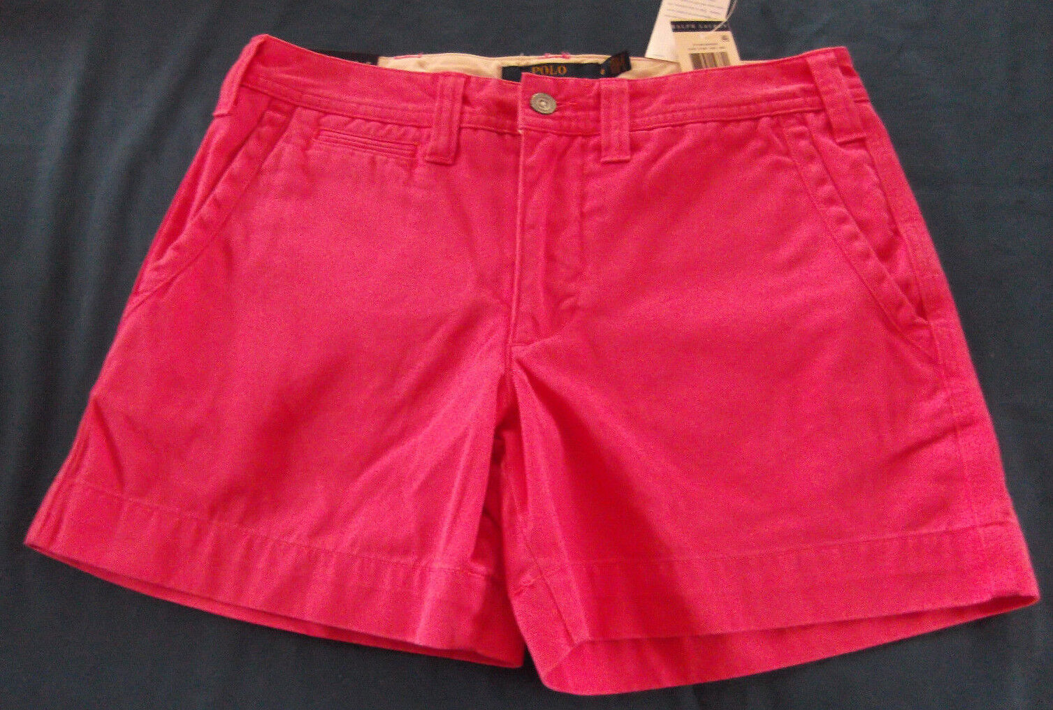NWT Polo Ralph Lauren Pink Cotton Shorts Misses Size 0