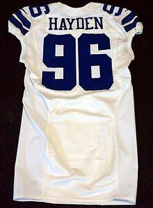 96 Nick Hayden De Dallas Cowboys Nfl Vestiário Jogo emitido Jersey ...