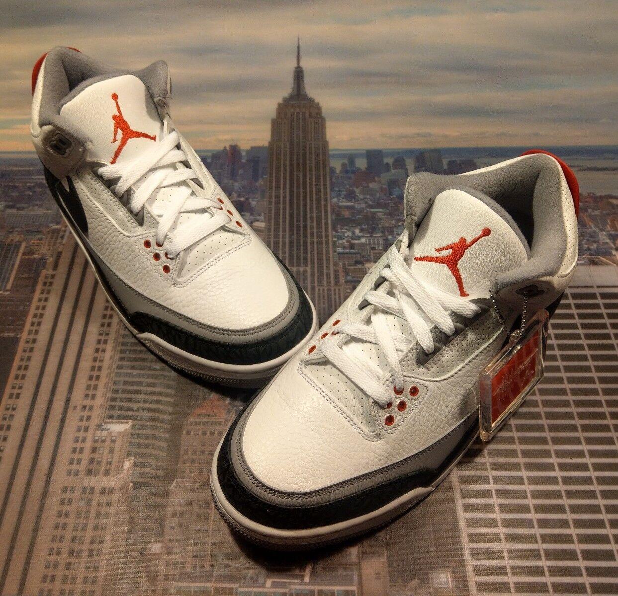 Nike Air Jordan III 3 Retro Tinker NRG White/Black-Red Size 8.5 AQ3835 160 New