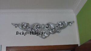 Tuerbogen-Relief-Bild-Wandrelief-Wandbild-Ornament-Barock-Wanddeko-500-Opt-Silber