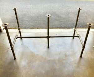 Details About Black Pipe Table Base Diy Parts Kit 1 X 92 Long 22 Wide 30 Tall