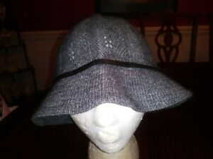 933df2ac2f Banana Republic Bucket Hat Black Lambs Wool Angora Women Size Small ...
