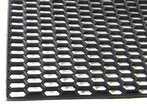 Noir plastique abs 120cm x 40cm nid d 39 abeille grille calandre ventilateur 120 40 ebay - Grille nid d abeille plastique ...