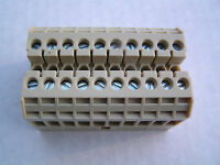 Siemens 8wa1011-0dg21, 10 Pole Terminal Block For 18-10 Awg Wire Free Ship