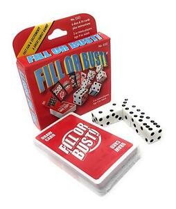 Fill-Or-Bust-Dice-Card-Game-Bowman-Games-2222-Family-Party-Fast-Press-Your-Luck