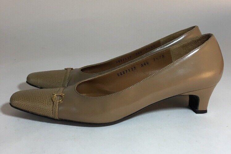 Salvatore Ferragamo Low Heel Tan 7.5 Pumps Größe 7.5 Tan AAAA Pamela Vigogna Calf Leather c4ba13
