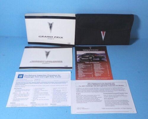 07 2007 Pontiac Grand Prix owners manual