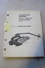 New Holland 114 Haybine Windrower Operators Manual