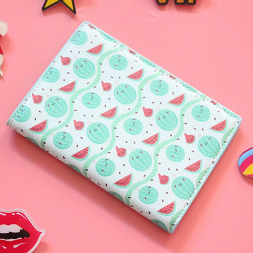 PU Leather Fruit Travel Passport Cover ID Card Holder Case Organizer Protector
