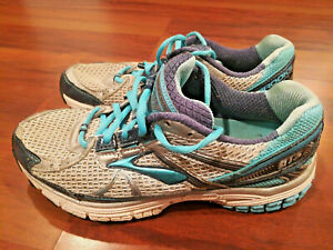 Brooks-GTS-13-Women-s-Running-Shoes-Sneakers-Dna-Mogo-Gray-Silver-Blue-Size-7-5