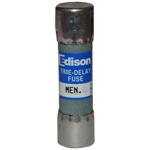 EDISON MEN10 10 AMP 250VAC MIDGET TIME DELAY FERRULE TYPE FUSE--SES