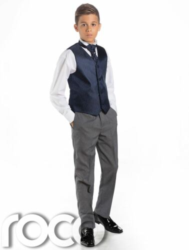 Page Boy Suits Boys Waistcoat Suit Grey Trousers Boys Wedding Suits
