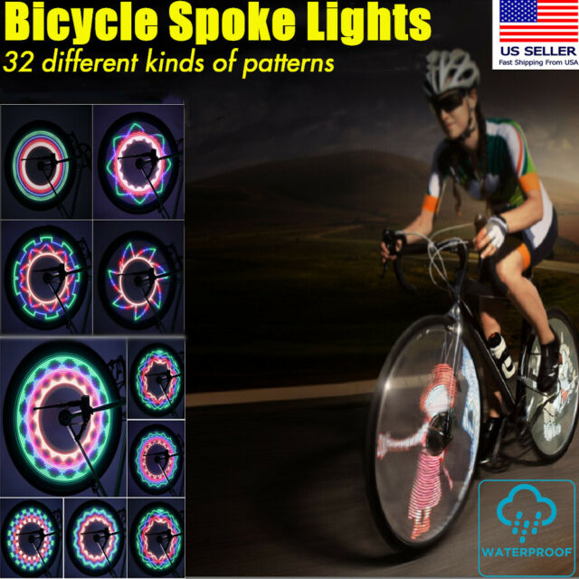 3x RECHARGEABLE USB 5 LED Bicycle Bike Frame Waterproof Rear Tail Light Cruiser