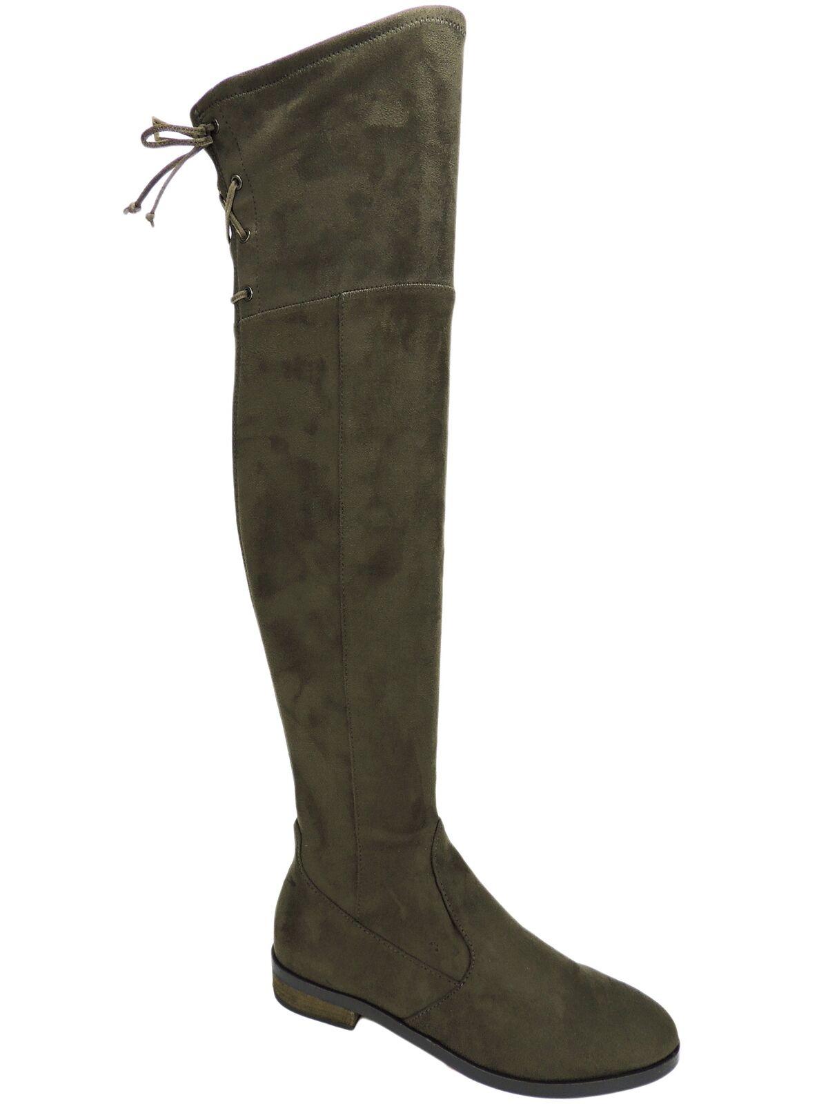 Vince Camuto Mujer crisintha sobre la rodilla botas inglés gris Topo Stretch