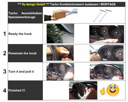 2x Tacho Ausziehhaken Auszieher Satz für Mercedes Benz Werkzeugset Edelstahl neu