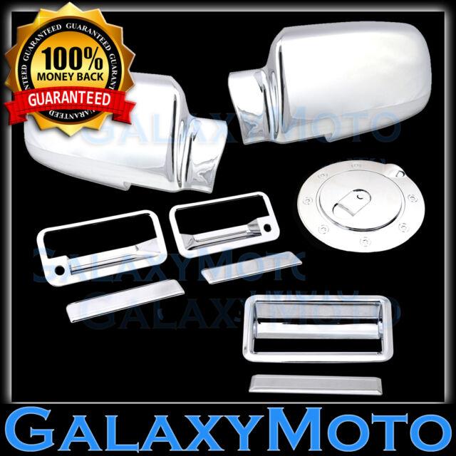 88-98 CHEVY C+K TRUCK PICKUP Chrome Mirror+2 Door Handle+Tailgate+Gas Cover Trim