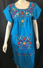90db3a04676a9 ANY COLOR PEASANT VINTAGE TUNIC EMBROIDERED MEXICAN DRESS S M L XL XXL PLUS  SIZE