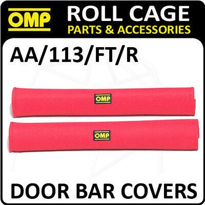 Aa / 113 / Ft / R Omp Roll Cage Porta Copre Barra 50cm Rosso In Velluto + Chiusura Velcro!-